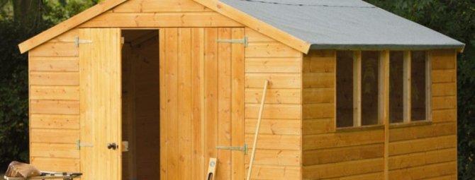 Как самостоятельно сделать на даче хозблок: строим качественную подсобку