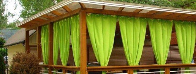 Выбираем шторы для садовой беседки и веранды: дизайнерские секреты