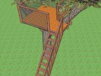 Монтаж лестницы для домика на дереве