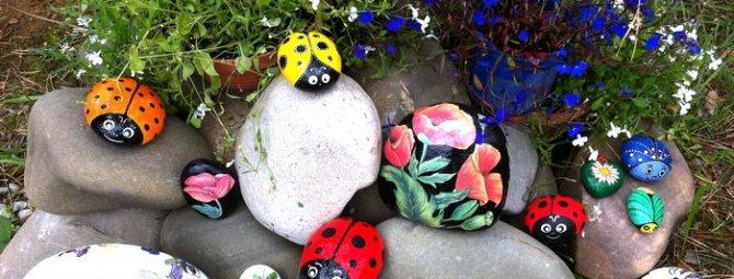 Роспись на камнях в саду своими руками: кладезь идей + секреты технологии