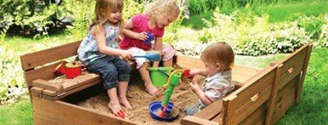 Песочницы для детей с крышкой своими руками фото