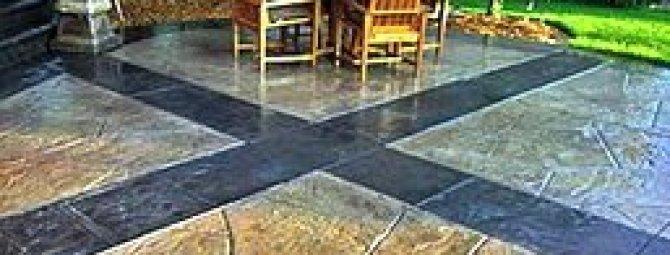 Декоративный бетон в ландшафтном дизайне: эффектный «грим» для унылой сырости