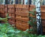 Мой отчет о строительстве деревянного забора с откатными воротами