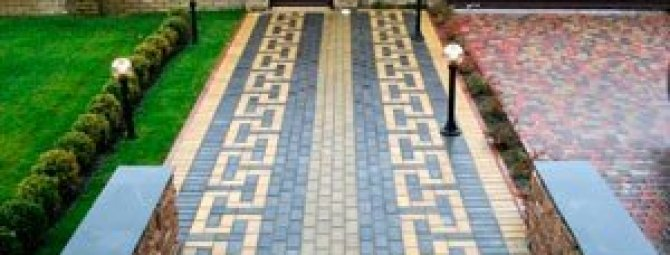 Варианты укладки тротуарной плитки в рисунках и схемах