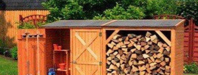 Как построить дровник на даче: возводим постройку для хранения дров