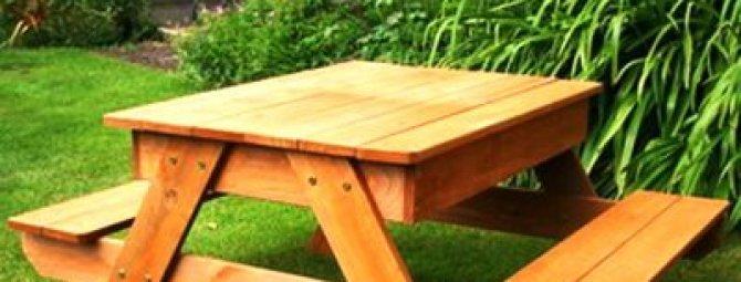 Делаем деревянный уличный столик для дачи: пошаговый инструктаж (+ фото и видео)