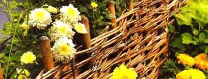 Плетеный деревянный забор: разбираем премудрости устройства «плетня»