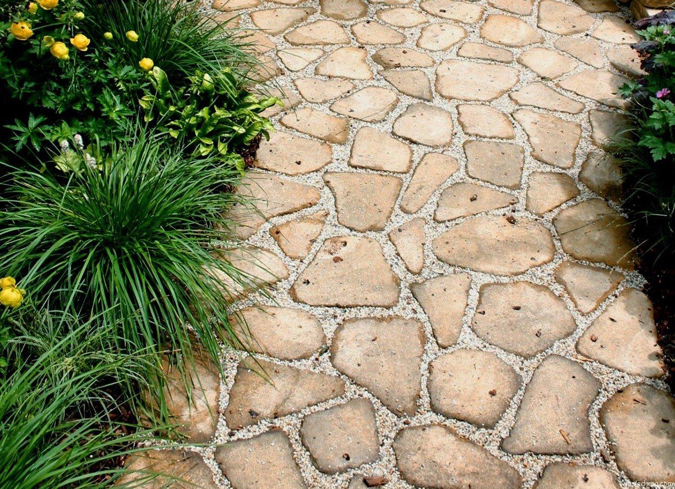 Садовые дорожки из плиток своими руками фото 505