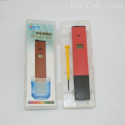 Специальный прибор для измерения кислотности - PH-метр