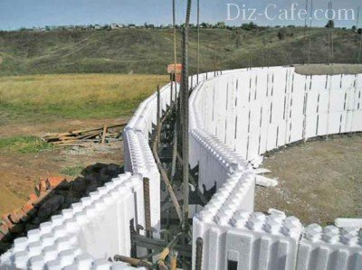 Чаша для бассейна из полистирольных блоков