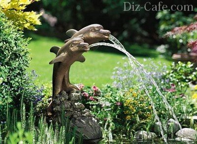 Декоративный одноструйный фонтан