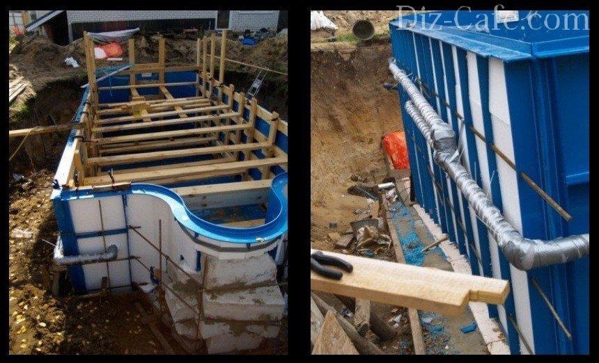 Как построить бассейн на даче своими руками - поэтапное ...