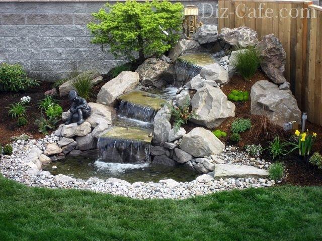 Водопады в саду