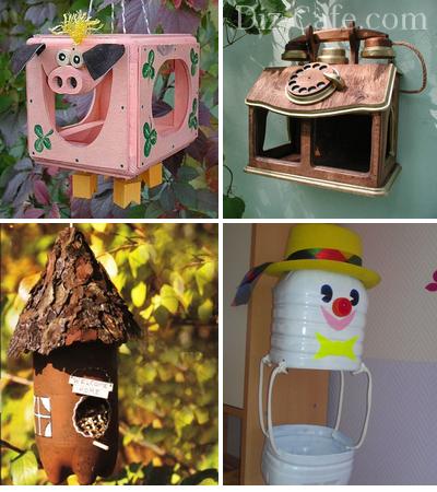 Оригинальные подвесные кормушки для птиц