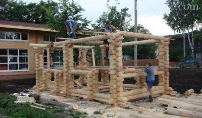 Строительство сруба
