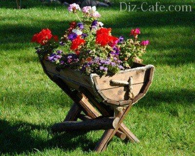 Цветник в корыте