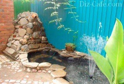 Водопад своими руками в саду