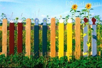 Разноцветный штакетник