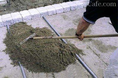 Распределение цементной смеси