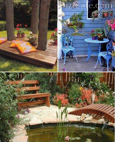 Как оформить зону отдыха в саду своими руками фото