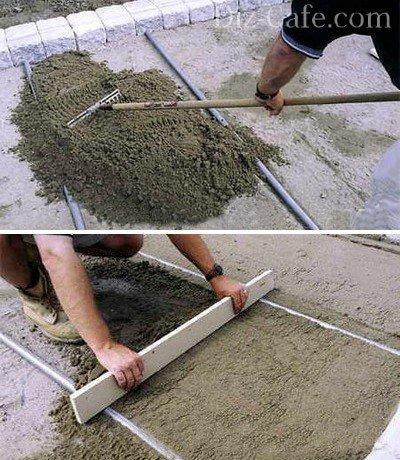 Поэтапное обустройство песчаной «подушки»