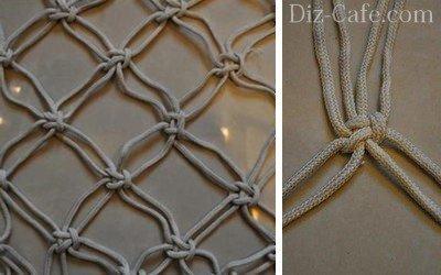 Плоский узел для плетения гамака