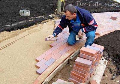 Особенности выкладывания тротуарного покрытия