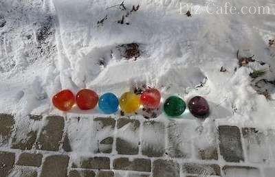 Цветные ледышки