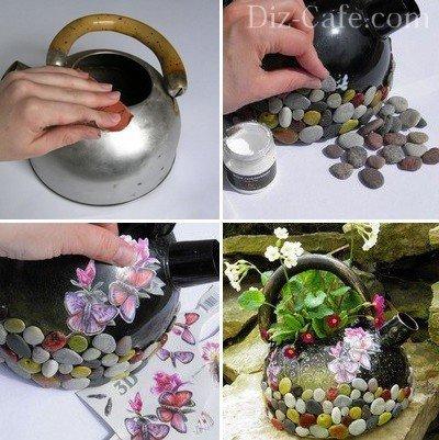 Четыре шага по созданию миниклумбы из чайника