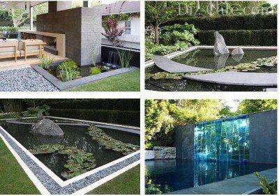 Пруд в авангардном саду