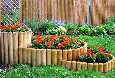 Деревянный бордюр