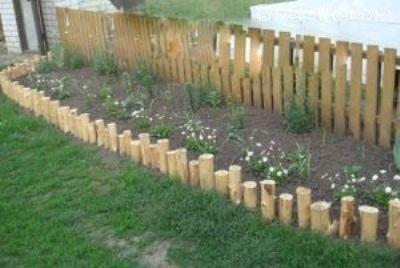 Ограда из кольев