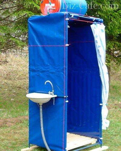 Каркасный брезентовый душ