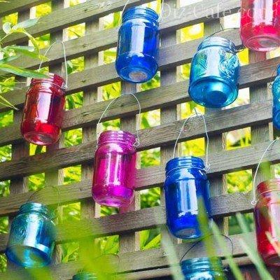 Цветные банки-подсвечники
