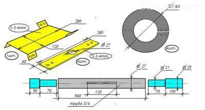 Шнек приводится в движение с помощью цепи или ремня