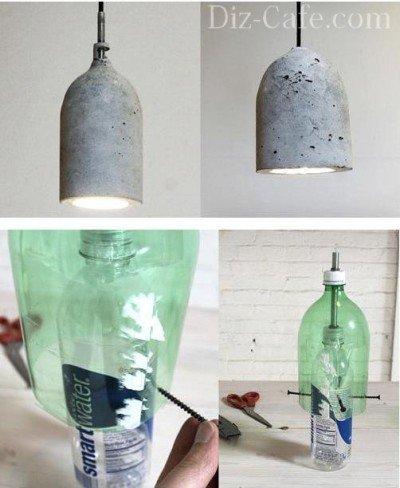 Светильник из цемента