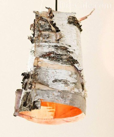Светильник из березовой коры