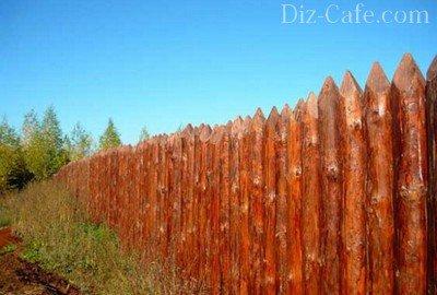 Высокий забор из частокола – надежная защита участка