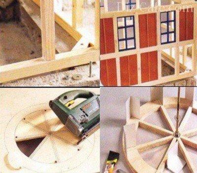 Сборка модели мельницы (часть2)