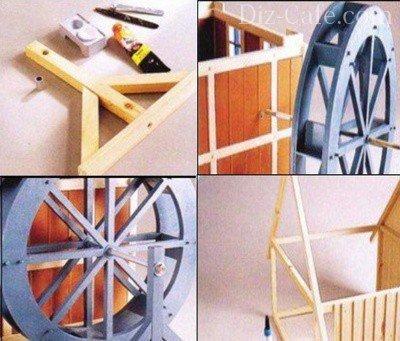 Сборка модели мельницы (часть3)