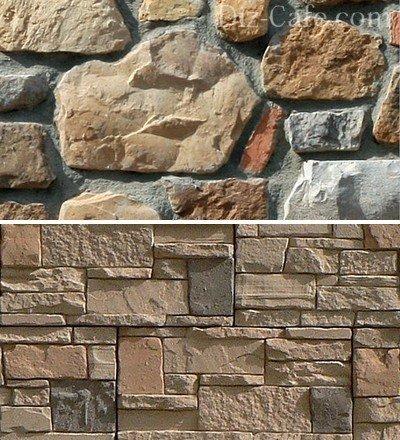 Варианты размещения камней в процессе укладки