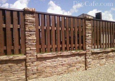 Красивый забор своими руками из доски 881