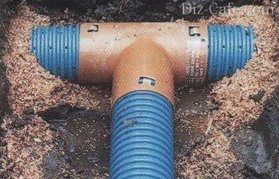 Соединения дренажных труб
