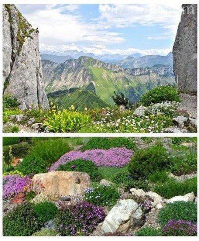 Классическая альпийская горка