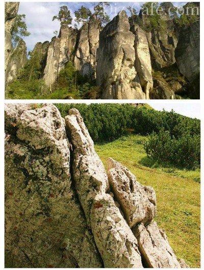 Горы Чехии - основа для создания альпинария чешская скалка
