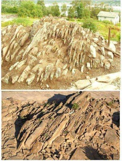 Плотная кладка камня для альпинария чешская скалка