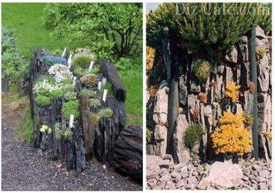 Каменные плиты для альпинария чешская скалка