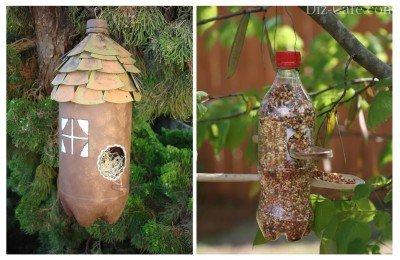 Гнездо для птицы из пластиковой бутылки