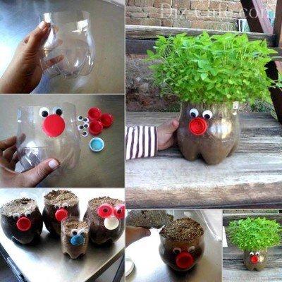 Емкость для выращивания рассады из пластиковой бутылки