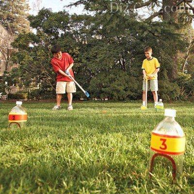 Игровые принадлежности из пластиковых бутылок
